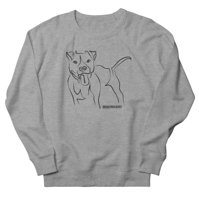Tail-Wagin' Contour Dog Women's French Terry Sweatshirt by Austin Pets Alive's Artist Shop
