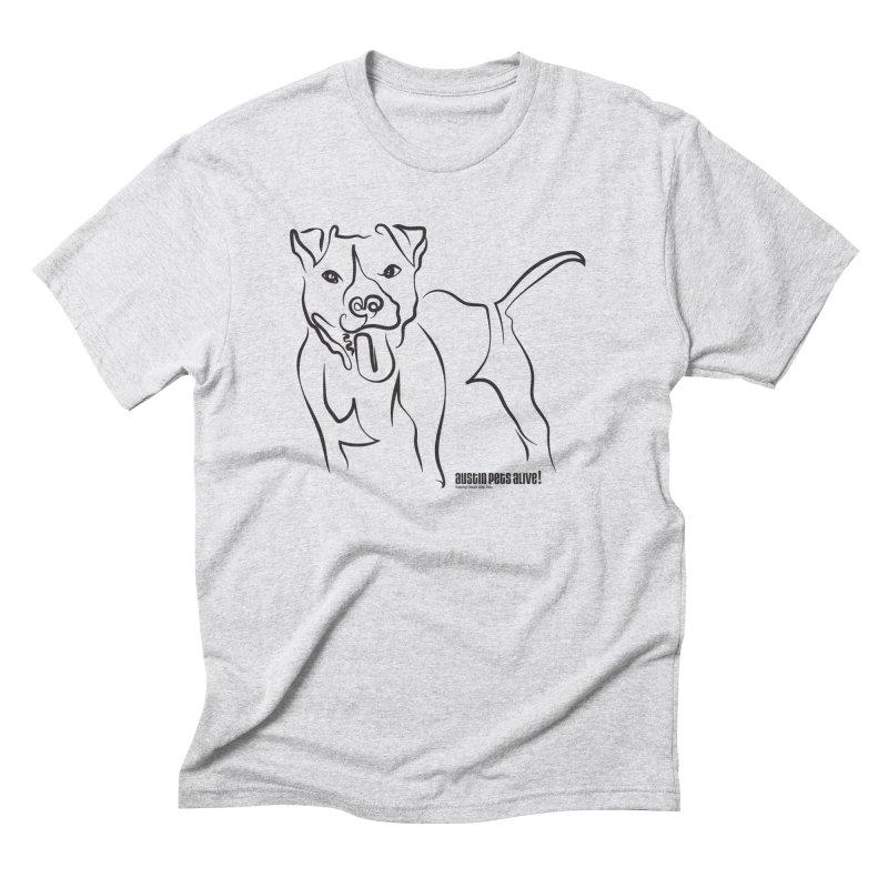 Tail-Wagin' Contour Dog Men's Triblend T-Shirt by Austin Pets Alive's Artist Shop