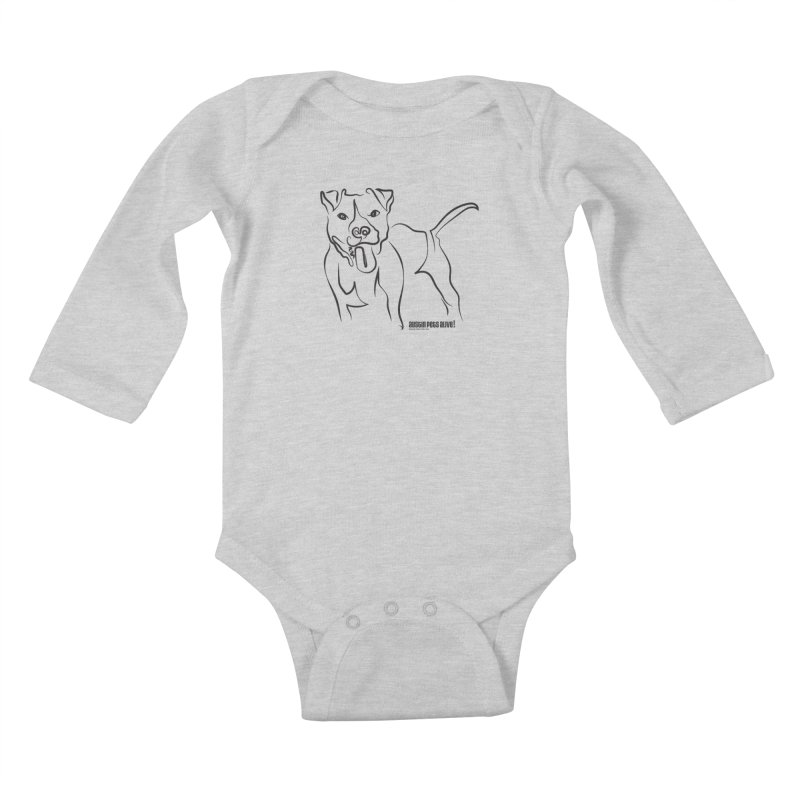 Tail-Wagin' Contour Dog Kids Baby Longsleeve Bodysuit by Austin Pets Alive's Artist Shop