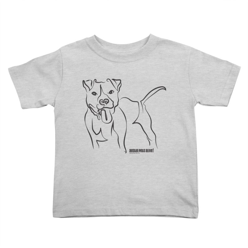 Tail-Wagin' Contour Dog Kids Toddler T-Shirt by austinpetsalive's Artist Shop