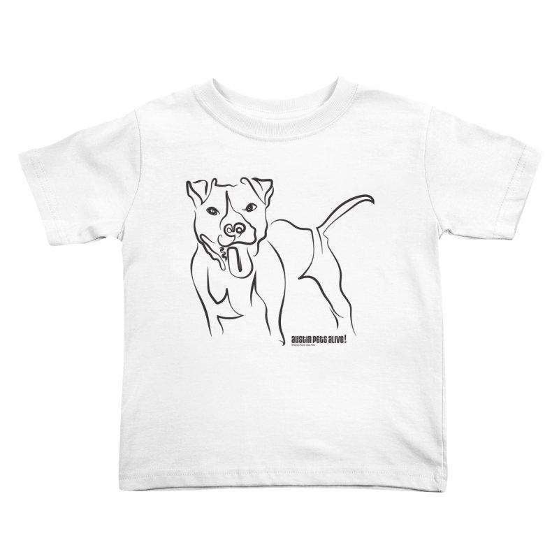 Tail-Wagin' Contour Dog Kids Toddler T-Shirt by Austin Pets Alive's Artist Shop