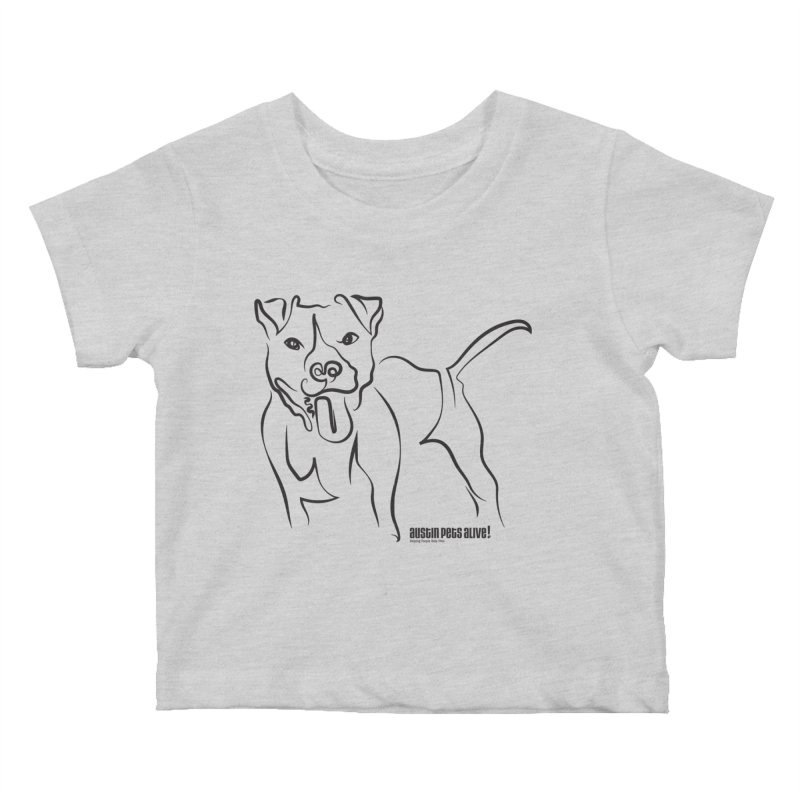 Tail-Wagin' Contour Dog Kids Baby T-Shirt by austinpetsalive's Artist Shop