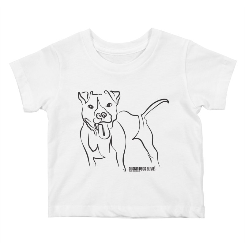 Tail-Wagin' Contour Dog Kids Baby T-Shirt by Austin Pets Alive's Artist Shop