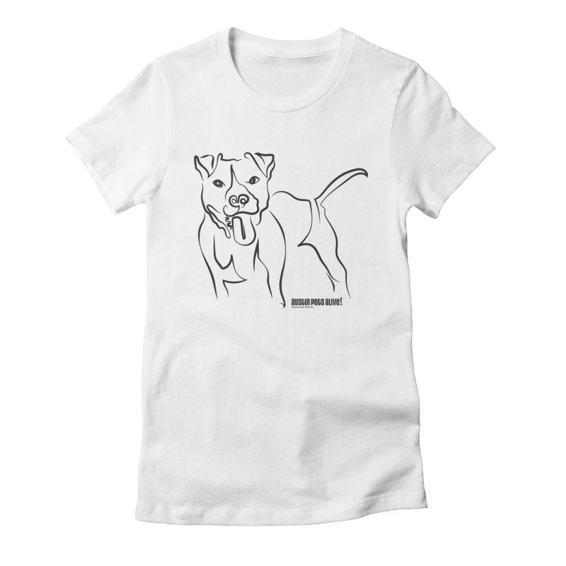 Tail-Wagin' Contour Dog Women's T-Shirt by Austin Pets Alive's Artist Shop