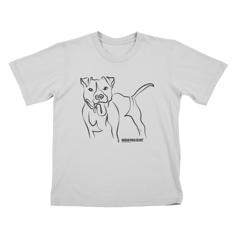 Tail-Wagin' Contour Dog Kids T-Shirt by austinpetsalive's Artist Shop
