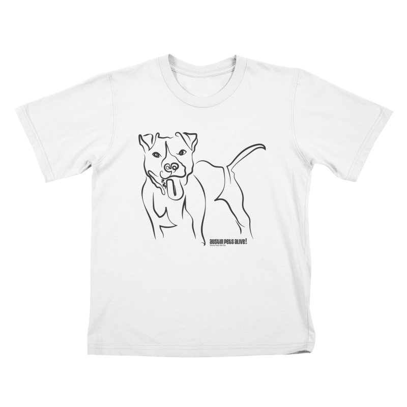 Tail-Wagin' Contour Dog Kids T-Shirt by Austin Pets Alive's Artist Shop