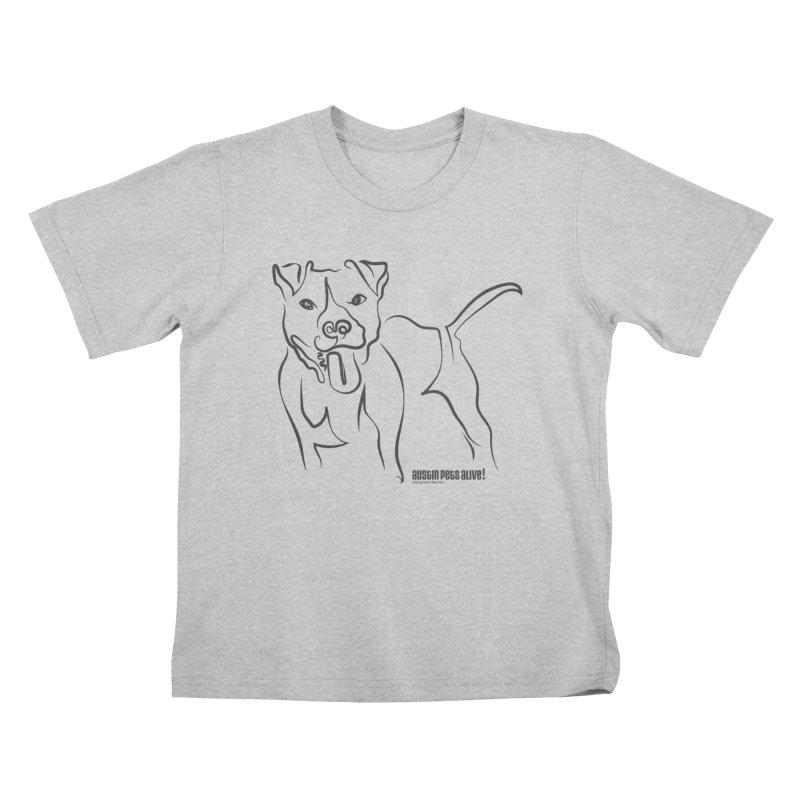 Tail-Wagin' Contour Dog Kids T-Shirt by Austin Pets Alive's Artist Shop