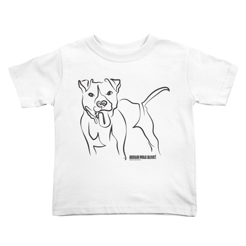 Tail-Wagin' Contour Dog Kids Toddler T-Shirt by Austin Pets Alive's Artist Shop