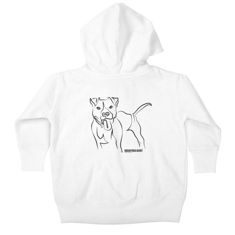 Tail-Wagin' Contour Dog Kids Baby Zip-Up Hoody by Austin Pets Alive's Artist Shop