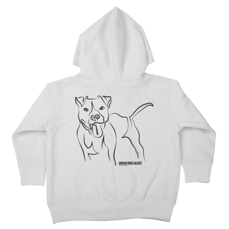 Tail-Wagin' Contour Dog Kids Toddler Zip-Up Hoody by austinpetsalive's Artist Shop