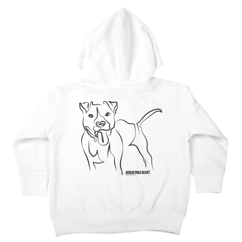 Tail-Wagin' Contour Dog Kids Toddler Zip-Up Hoody by Austin Pets Alive's Artist Shop