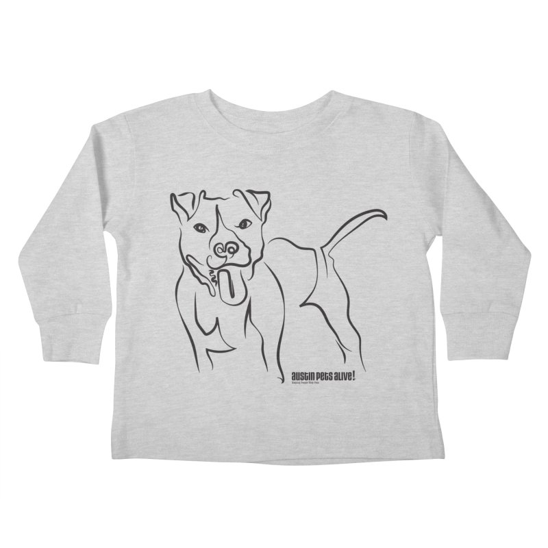 Tail-Wagin' Contour Dog Kids Toddler Longsleeve T-Shirt by Austin Pets Alive's Artist Shop