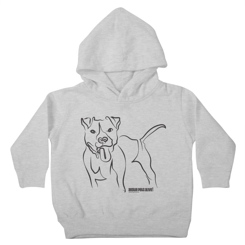Tail-Wagin' Contour Dog Kids Toddler Pullover Hoody by Austin Pets Alive's Artist Shop
