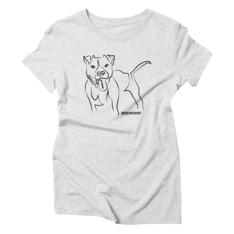 Tail-Wagin' Contour Dog Women's T-Shirt by Austin Pets Alive's Artist Shop