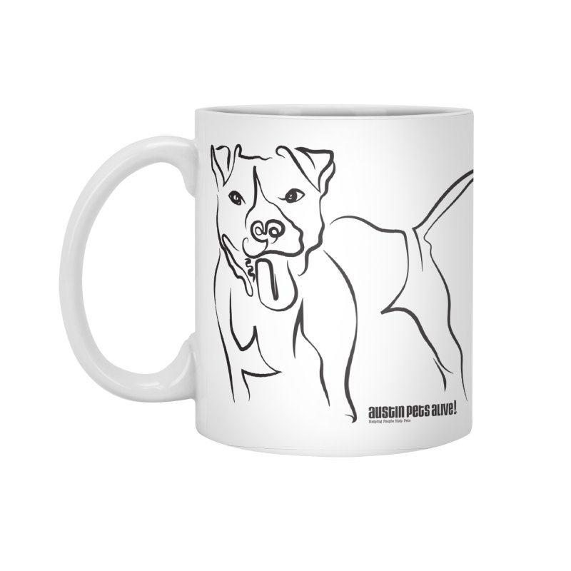 Tail-Wagin' Contour Dog Accessories Standard Mug by Austin Pets Alive's Artist Shop