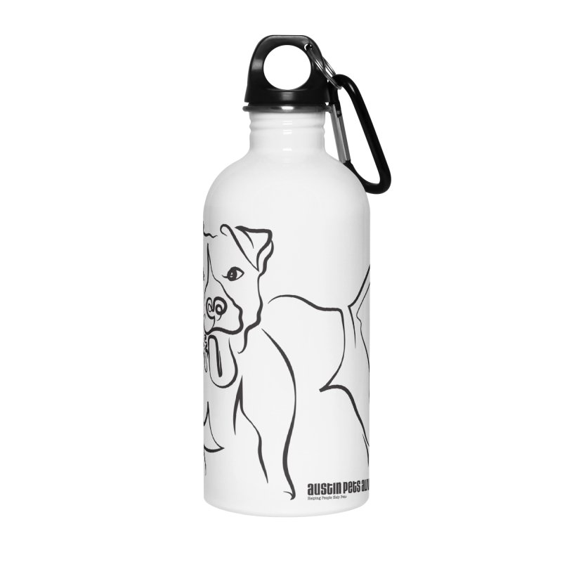 Tail-Wagin' Contour Dog Accessories Water Bottle by Austin Pets Alive's Artist Shop