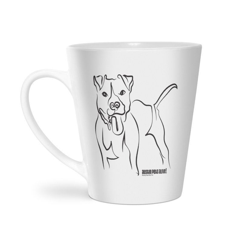 Tail-Wagin' Contour Dog Accessories Latte Mug by Austin Pets Alive's Artist Shop
