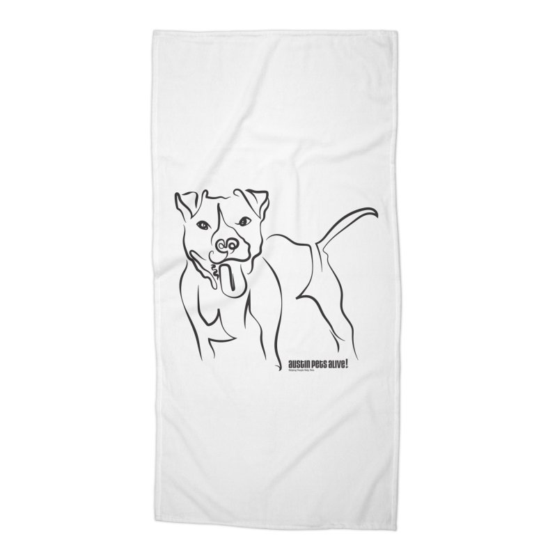 Tail-Wagin' Contour Dog Accessories Beach Towel by Austin Pets Alive's Artist Shop