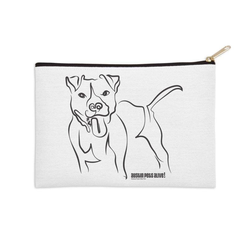Tail-Wagin' Contour Dog Accessories Zip Pouch by austinpetsalive's Artist Shop