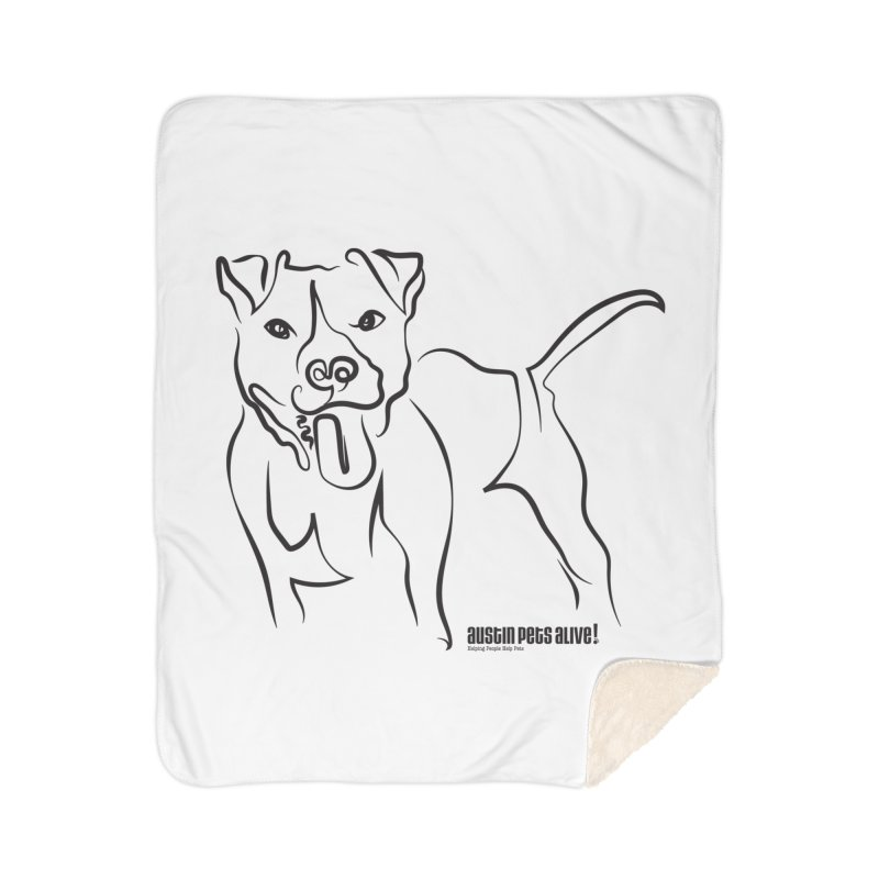 Tail-Wagin' Contour Dog Home Sherpa Blanket Blanket by Austin Pets Alive's Artist Shop
