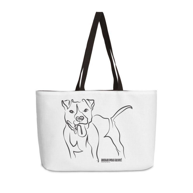 Tail-Wagin' Contour Dog Accessories Weekender Bag Bag by Austin Pets Alive's Artist Shop