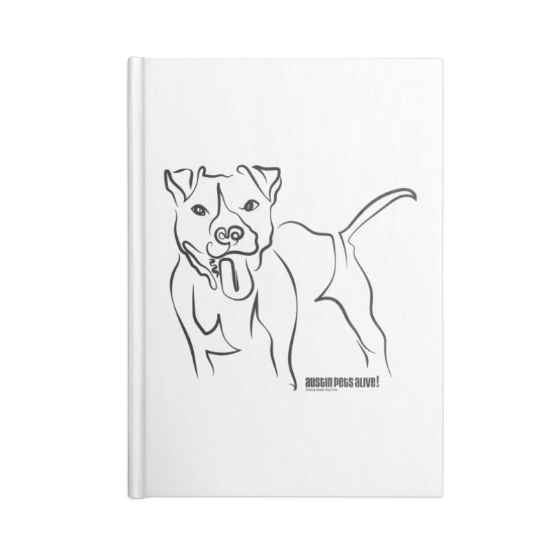 Tail-Wagin' Contour Dog Accessories Lined Journal Notebook by Austin Pets Alive's Artist Shop
