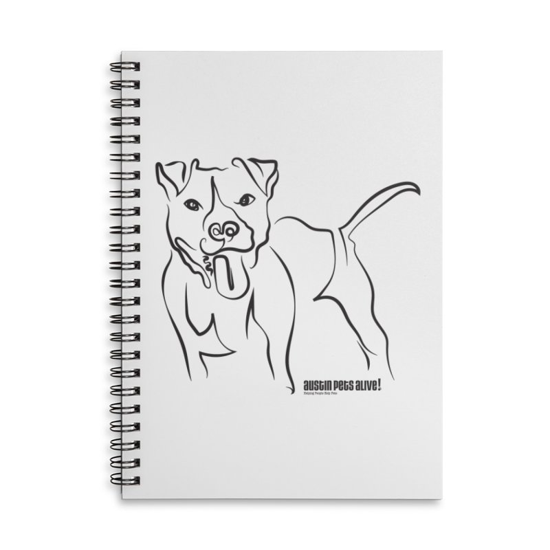 Tail-Wagin' Contour Dog Accessories Lined Spiral Notebook by Austin Pets Alive's Artist Shop