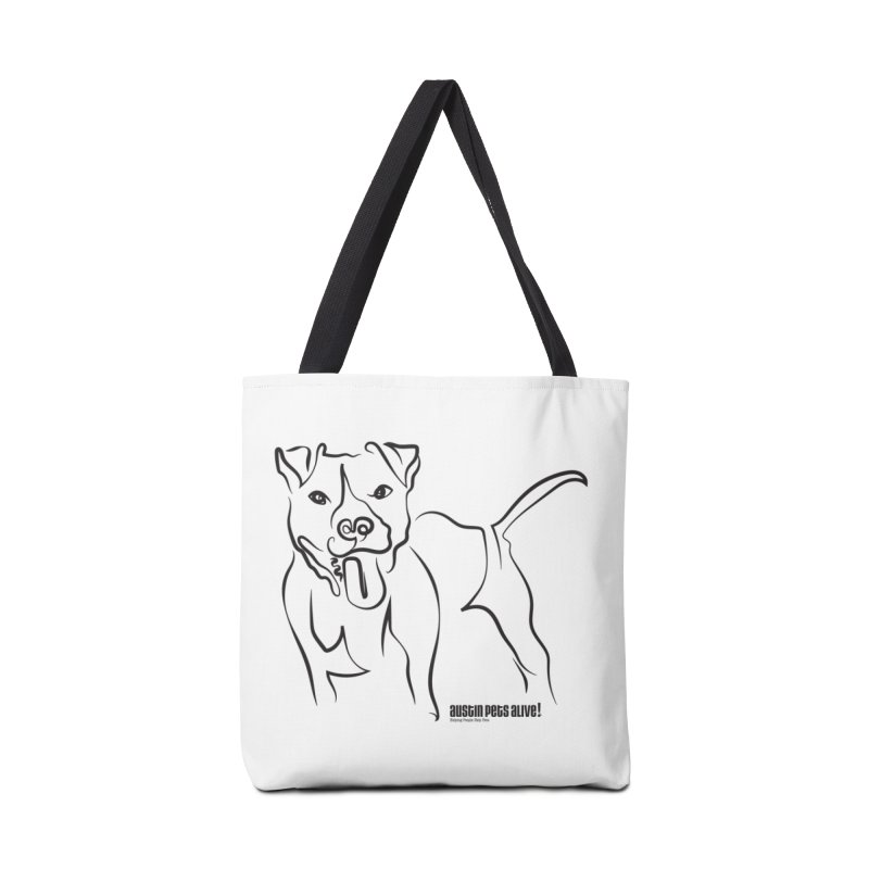 Tail-Wagin' Contour Dog Accessories Tote Bag Bag by Austin Pets Alive's Artist Shop