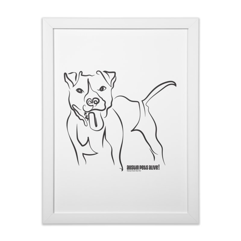 Tail-Wagin' Contour Dog Home Framed Fine Art Print by Austin Pets Alive's Artist Shop