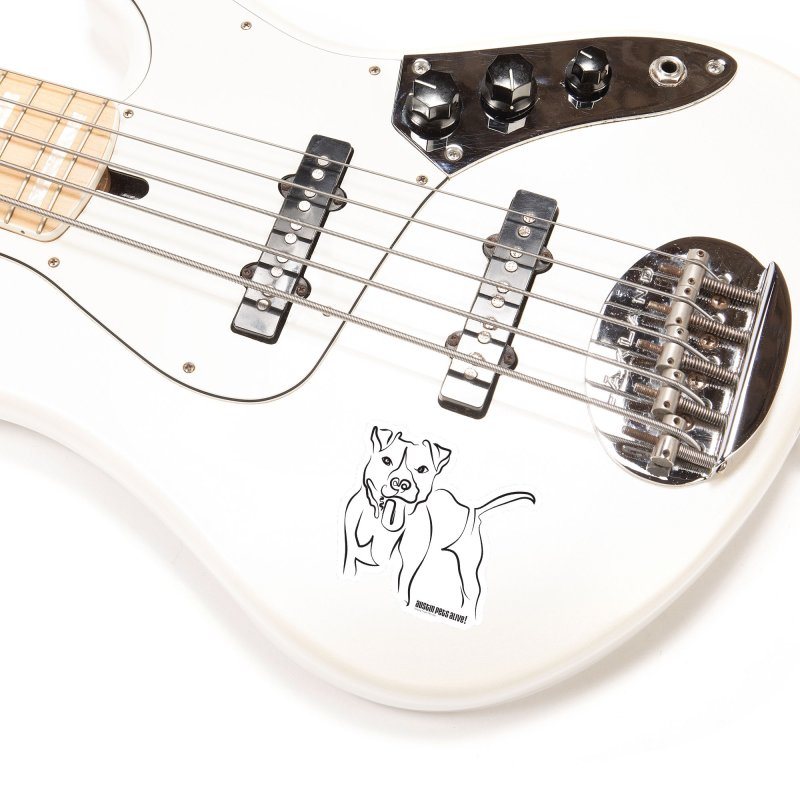 Tail-Wagin' Contour Dog Accessories Sticker by Austin Pets Alive's Artist Shop