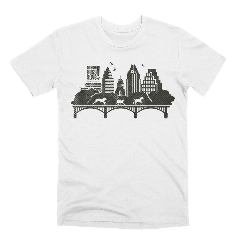 Pet Party on the Austin Skyline Men's T-Shirt by Austin Pets Alive's Artist Shop