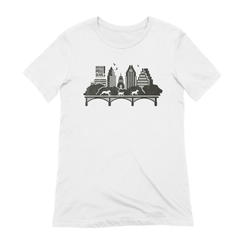 Pet Party on the Austin Skyline Women's Extra Soft T-Shirt by Austin Pets Alive's Artist Shop