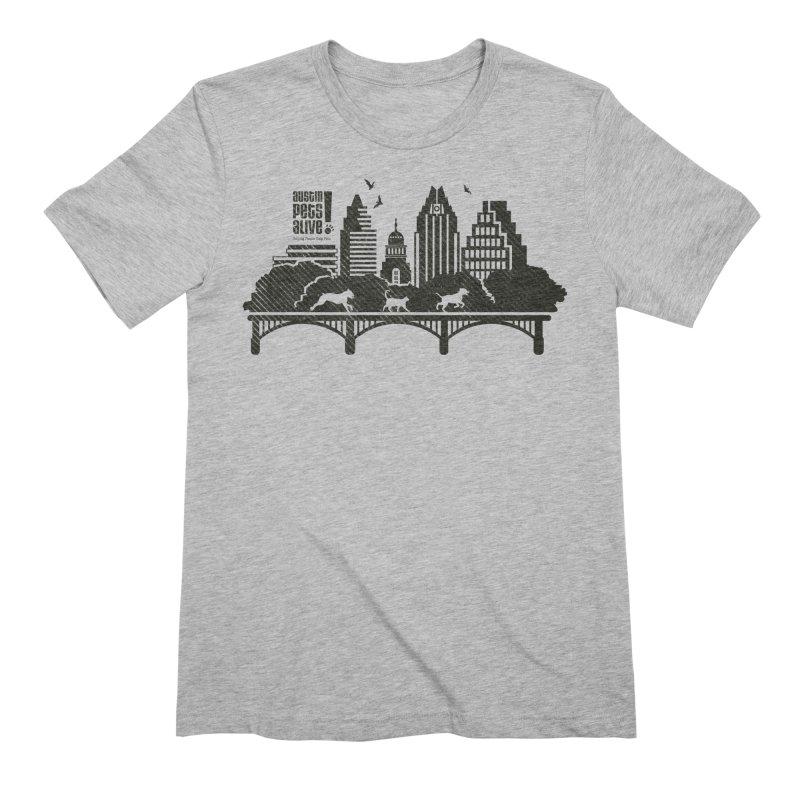 Pet Party on the Austin Skyline Men's Extra Soft T-Shirt by Austin Pets Alive's Artist Shop