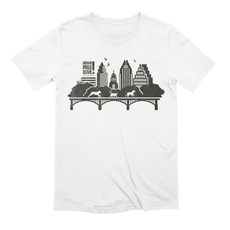 Pet Party on the Austin Skyline Men's Extra Soft T-Shirt by Austin Pets Alive's Artist Shop