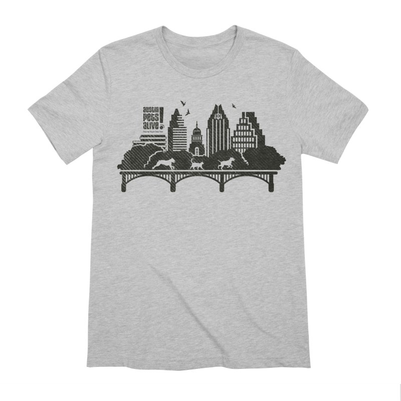 Pet Party on the Austin Skyline Men's Extra Soft T-Shirt by austinpetsalive's Artist Shop