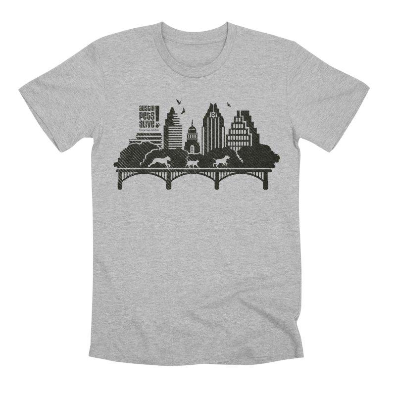 Pet Party on the Austin Skyline Men's Premium T-Shirt by Austin Pets Alive's Artist Shop