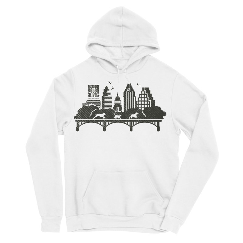 Pet Party on the Austin Skyline Men's Sponge Fleece Pullover Hoody by Austin Pets Alive's Artist Shop