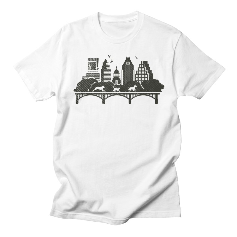 Pet Party on the Austin Skyline Men's T-Shirt by Austin Pets Alive's Artist Shop
