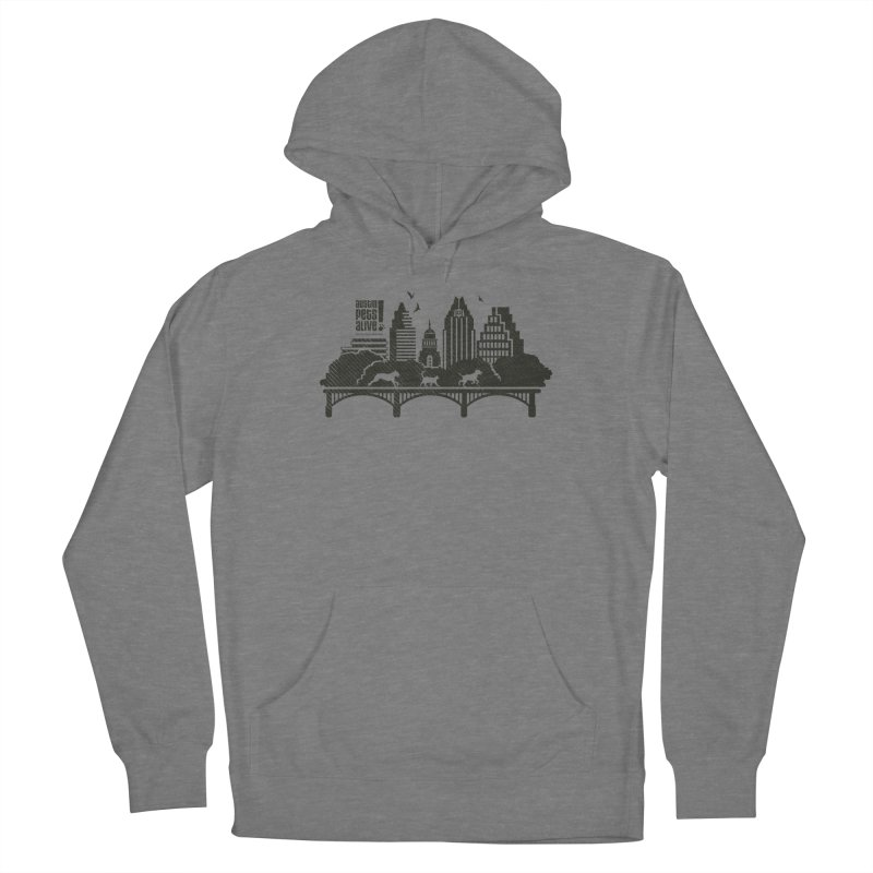 Pet Party on the Austin Skyline Women's French Terry Pullover Hoody by Austin Pets Alive's Artist Shop