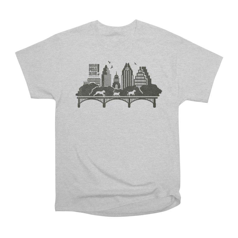 Pet Party on the Austin Skyline Women's Heavyweight Unisex T-Shirt by Austin Pets Alive's Artist Shop