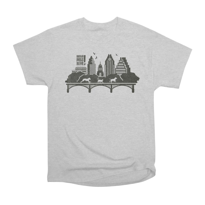 Pet Party on the Austin Skyline Men's Heavyweight T-Shirt by Austin Pets Alive's Artist Shop