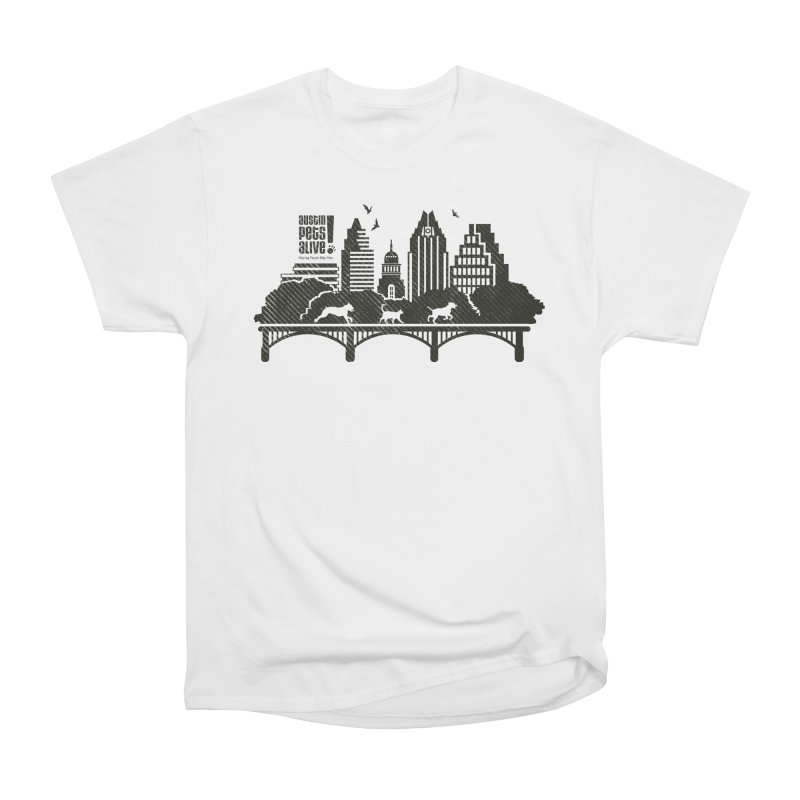 Pet Party on the Austin Skyline Women's T-Shirt by Austin Pets Alive's Artist Shop