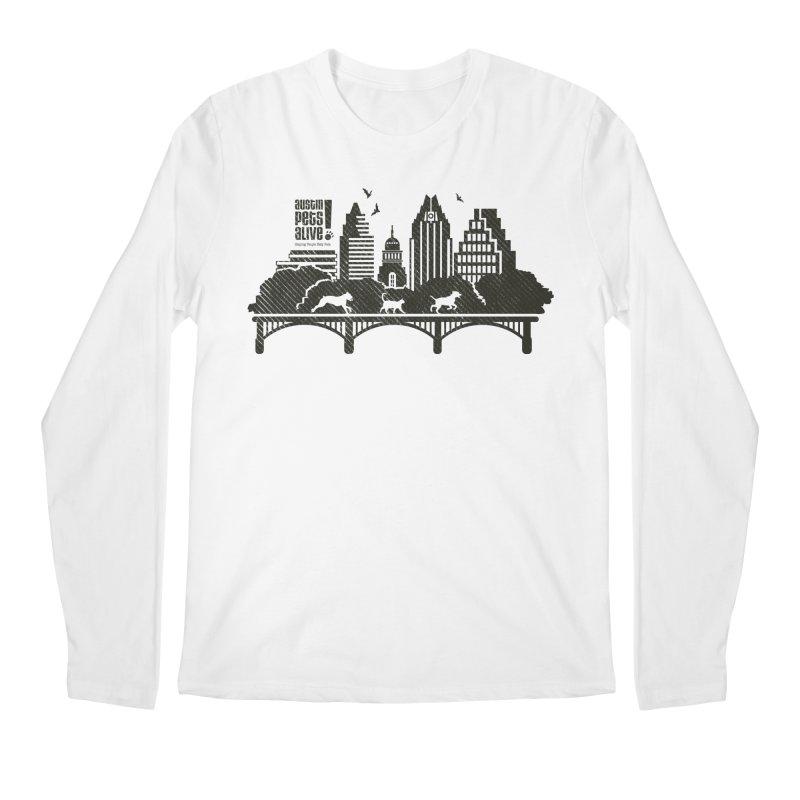 Pet Party on the Austin Skyline Men's Regular Longsleeve T-Shirt by austinpetsalive's Artist Shop