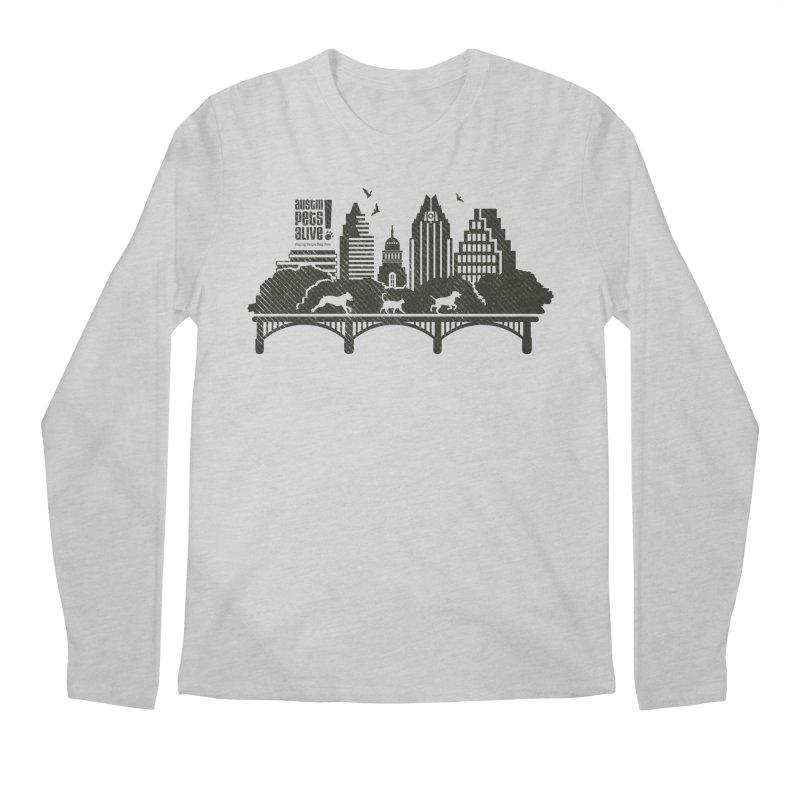 Pet Party on the Austin Skyline Men's Regular Longsleeve T-Shirt by Austin Pets Alive's Artist Shop