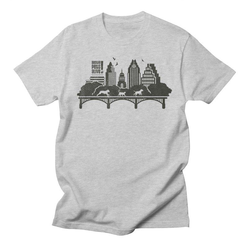 Pet Party on the Austin Skyline Men's Regular T-Shirt by Austin Pets Alive's Artist Shop