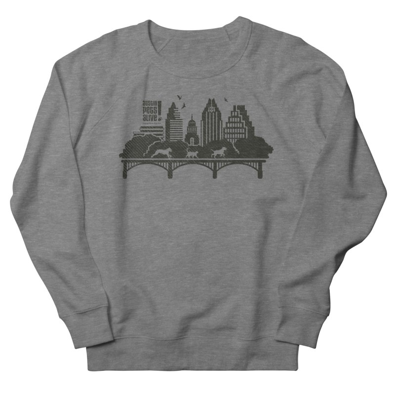 Pet Party on the Austin Skyline Women's French Terry Sweatshirt by Austin Pets Alive's Artist Shop