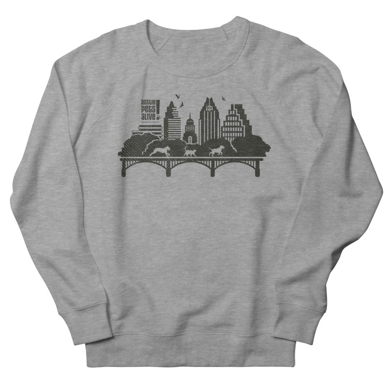 Pet Party on the Austin Skyline Men's French Terry Sweatshirt by Austin Pets Alive's Artist Shop