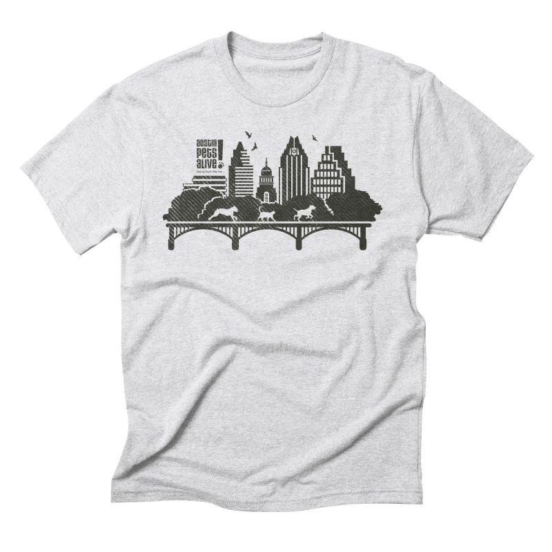 Pet Party on the Austin Skyline Men's Triblend T-Shirt by Austin Pets Alive's Artist Shop