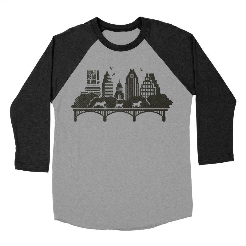 Pet Party on the Austin Skyline Women's Baseball Triblend Longsleeve T-Shirt by Austin Pets Alive's Artist Shop