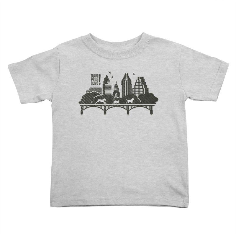 Pet Party on the Austin Skyline Kids Toddler T-Shirt by Austin Pets Alive's Artist Shop